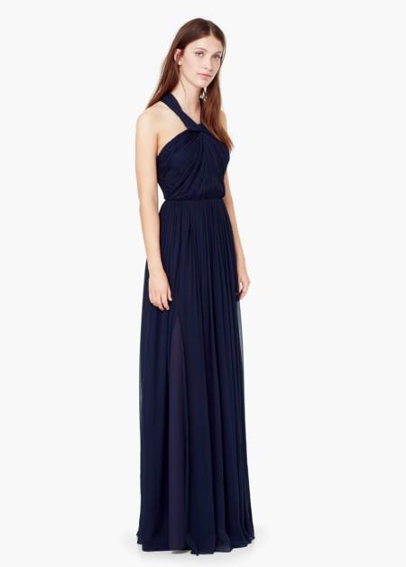 Vestido Largo Azul Mango Rebajas