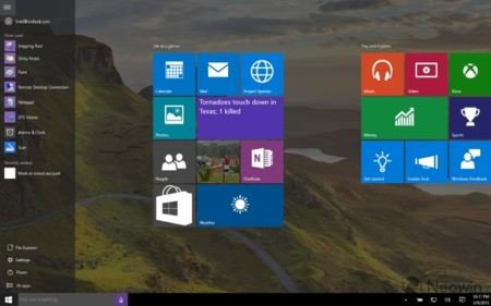 Windows10 Start Screen 10170