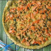 Tarta de salmón con espinacas. Receta