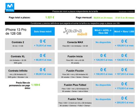 Precios Iphone 13 Pro De 128 Gb Con Pago A Plazos Y Tarifas Movistar