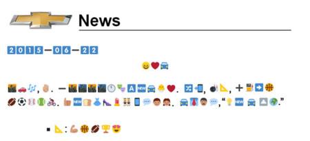 Comunicado con caracteres emoji