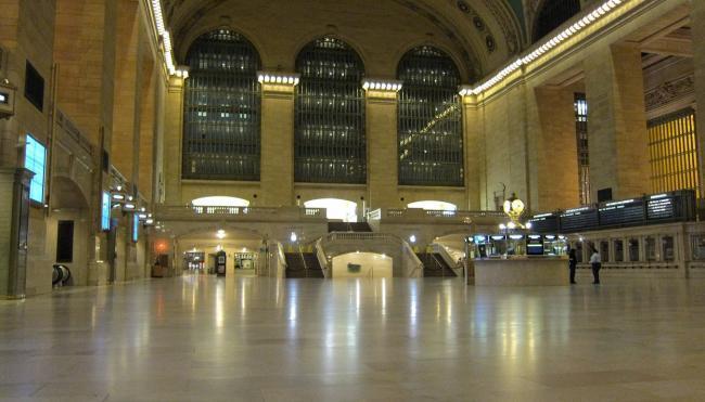 La Grand Central Terminal de Nueva York, vacía