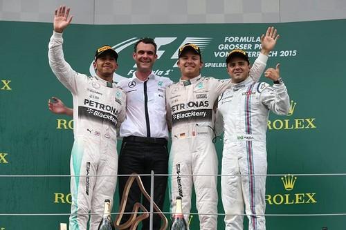 Rosberg gana el GP de Austria y se acerca a Hamilton en el campeonato de pilotos