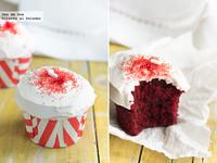 Red Velvet cupcakes. Receta de Navidad