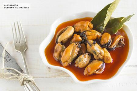 Mejillones en escabeche de vinagre de sidra. Receta