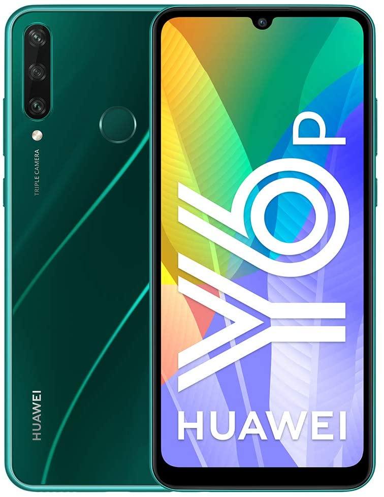 Huawei Y6P - Smartphone 64GB, 3GB RAM, Dual Sim, Emerald Green