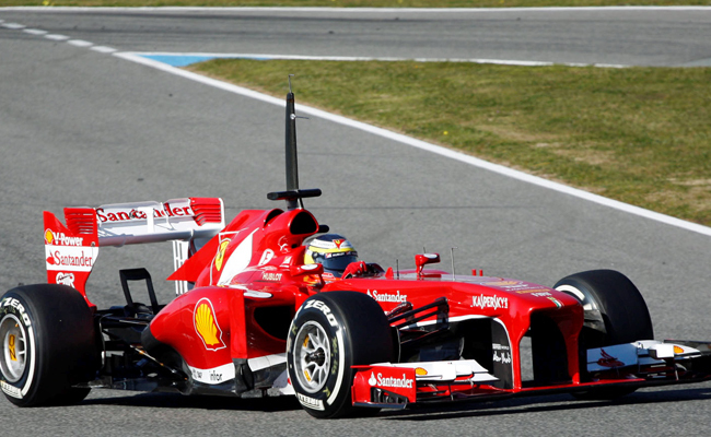 Pedro de la Rosa Ferrari F138 Jerez