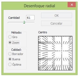 desenfoque radial