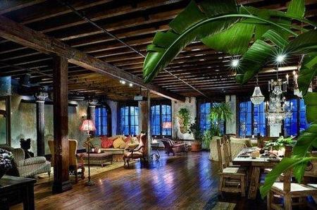 El salón de Gerard Butler.