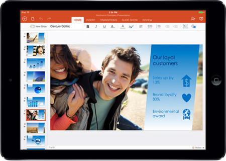 Office Powerpoint iPad