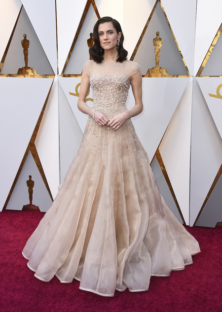 Giorgio Armani Prive Allison Williams Oscar 2018