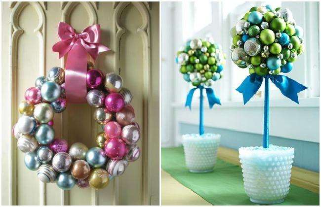 Ahorro en Navidad adornos con bolas antiguas