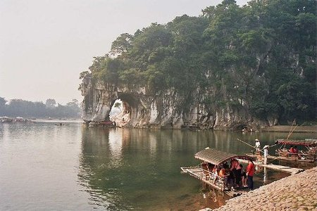 La Colina de la Trompa de Elefante en Guilin, China