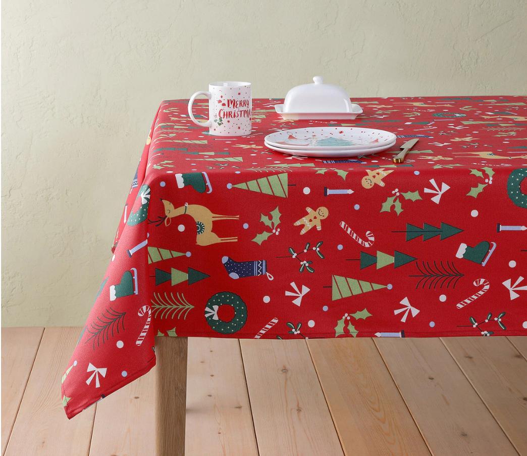 Mantel resinado navideño Dulce Navidad Basics El Corte Inglés 140x180