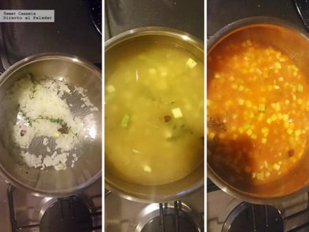 Preparacion Sopa Calabacita Y Pepino