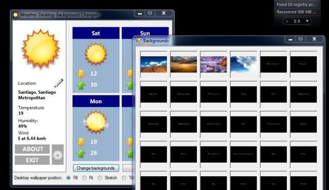 Weather Desktop Background Changer