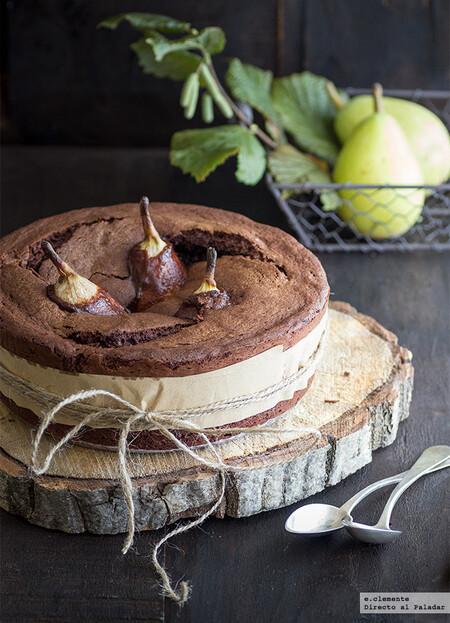 Pastel De Chocolate Fundido Con Peras