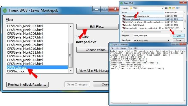 Modifica el contenido de un archivo EPUB con rapidez por medio de tweak_epub