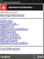 Información sobre Barcelona vía teléfono móvil