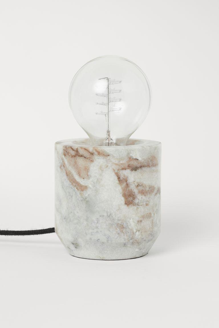 Lámpara de mesa en mármol