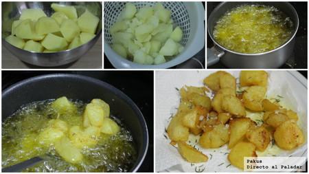 patatas para guarnición de carne paso a paso