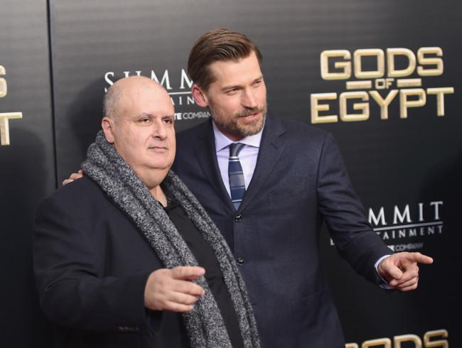 Alex Proyas y Nikolaj Coster-Waldau en Dioses de Egipto