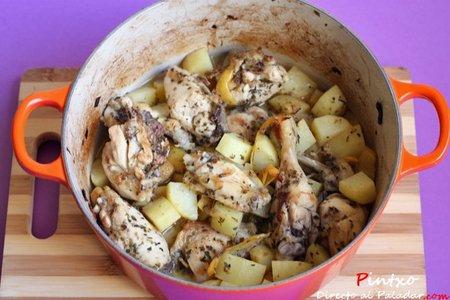 Cocotte de pollo al limon al horno. Receta