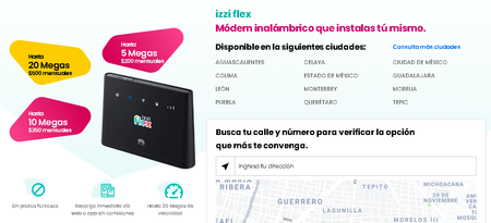 Izzi Flex Internet 4g Mexico