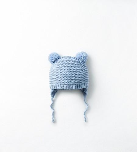 gorro lana bebé azul