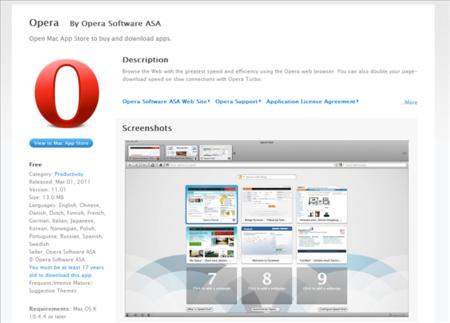 Opera llega a la App Store... pero sólo si tienes más de 17 años