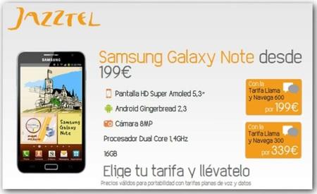 Jazztel aumenta su tienda de móviles subvencionados con Galaxy S2, Note, Sensation o Arc S entre otros