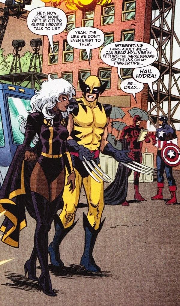 Cuatro superhéroes de Marvel en la misma viñeta