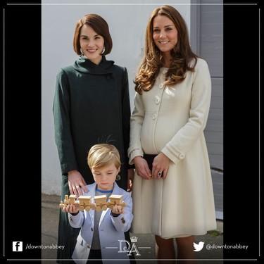 Kate Middleton o cuando una Duquesa de verdad visita Downton Abbey