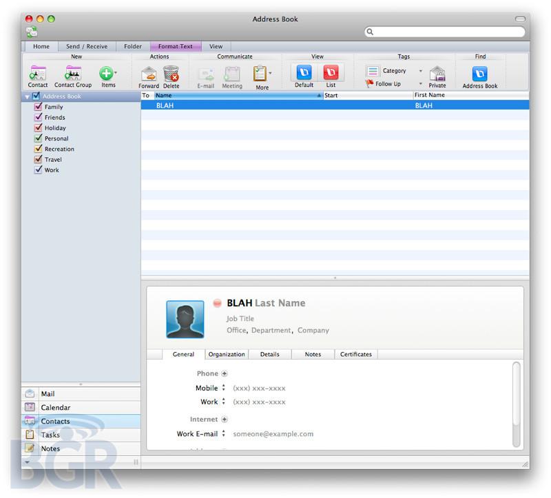 Foto de Primeras imágenes Office 2011 para Mac (3/7)