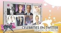 Celebrities en Twitter: Ranking de Poprosa