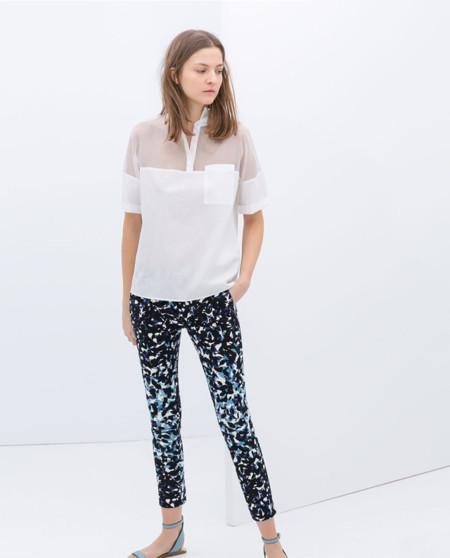 Clon Zara pantalón geométrico Erdem Resort colección 2013