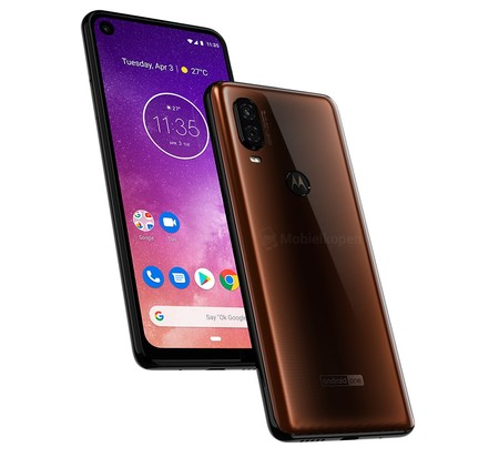 Motorola One Vision Render Cafe