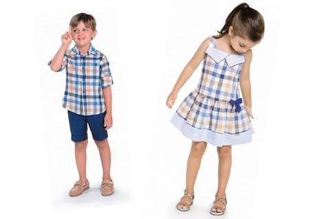Conjuntos niño y niña cuadros