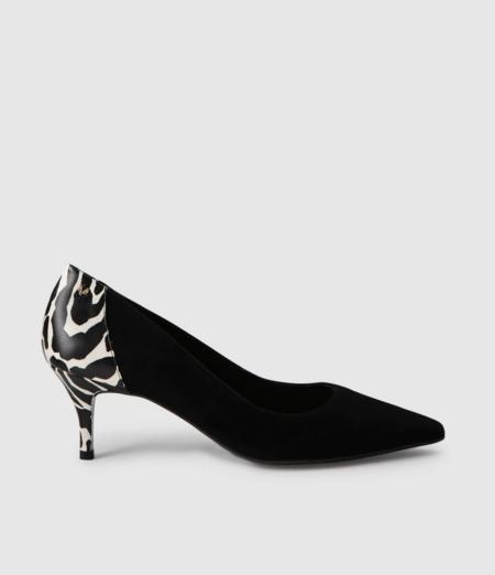 Zapatos De Tacon De Mujer Martinelli De Piel Con Estampado CebraZapatos de tacón de mujer Martinelli de piel con estampado cebra