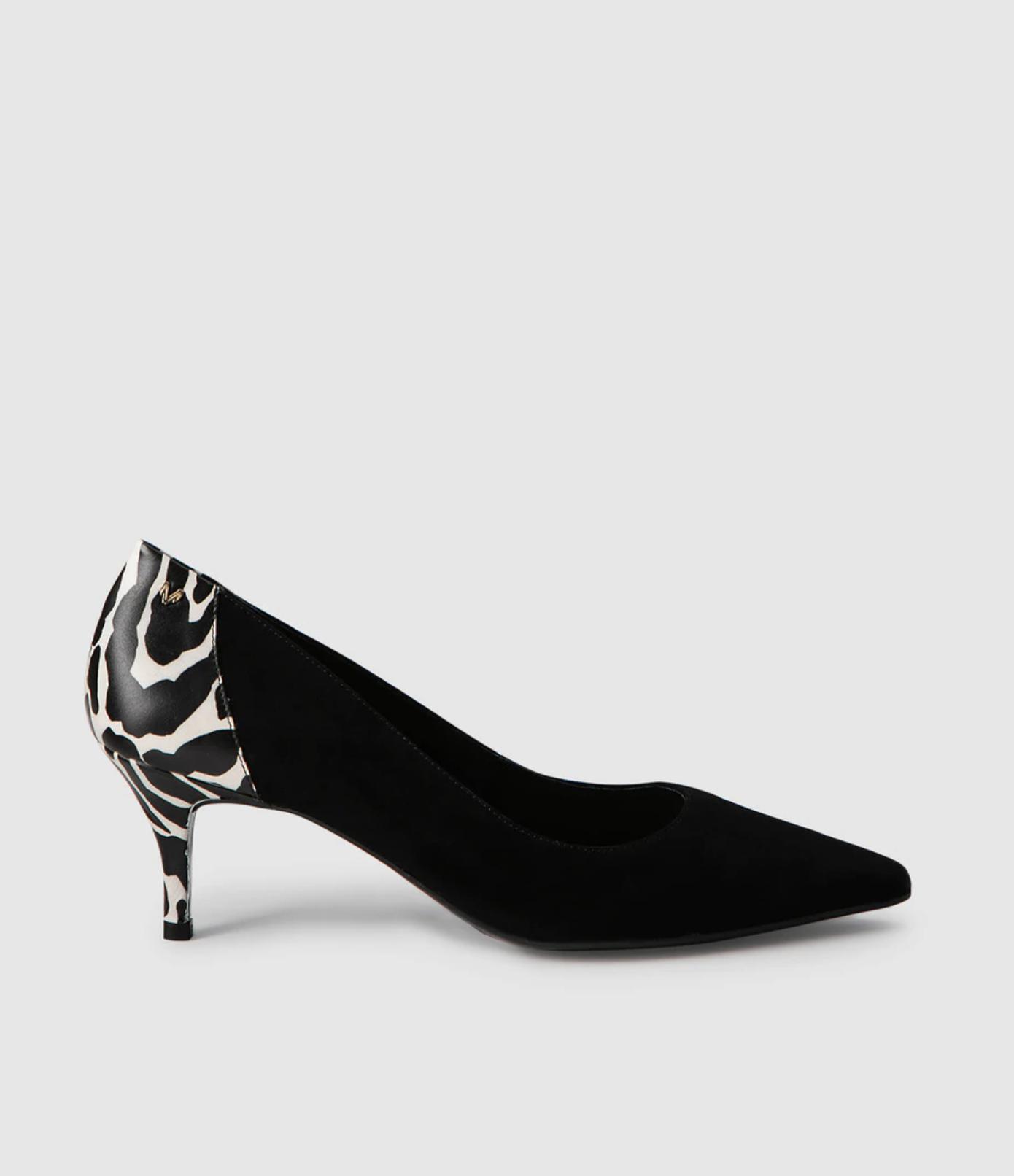 Zapatos de tacón de mujer Martinelli de piel con estampado cebra