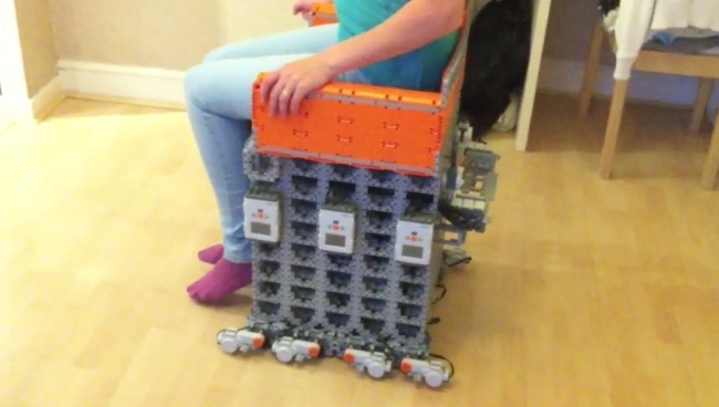 Silla motorizada de LEGO