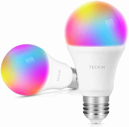 Cupón de descuento del 33% en este pack de dos bombillas inteligentes Teckin: pueden ser nuestras por 18,08 euros