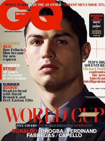 Cristiano Ronaldo, Fábregas y Drogba ahora marcando estilo, en plan buenorros en GQ