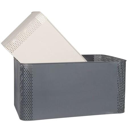 Cestas De Metal Gris Antracita Y Blanco X2 1000 9 24 217898 1