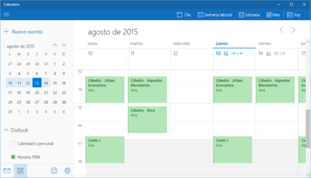 Cómo usar Google Calendar desde la app de Calendario de Windows 10
