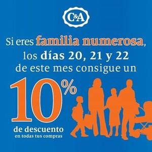 C&A rebaja sus descuentos para familias numerosas