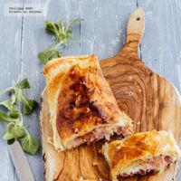 Hojaldre de jamón serrano y mozzarella. Receta