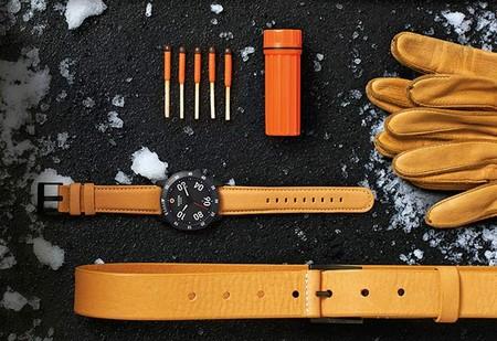 La nueva versión alpina del reloj Ranger Leather de Nixon