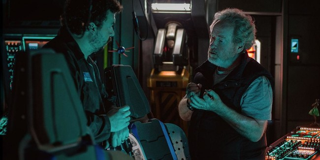 Ridley Scott con Danny McBride