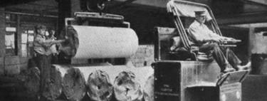 En 1912 una editorial ya contaba con una flota de 22 camiones eléctricos capaces de transportar 10 toneladas de carga